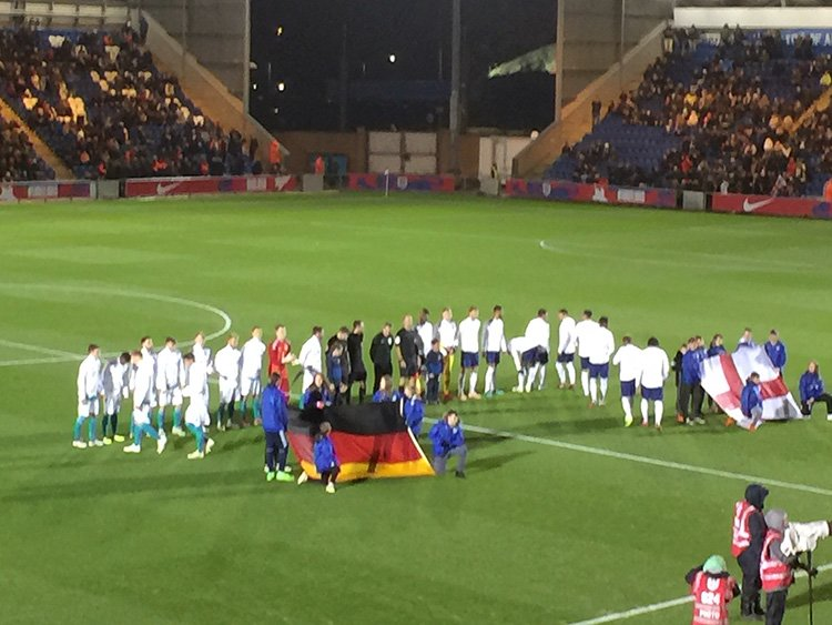 England U20s 2 Germany U20s 0