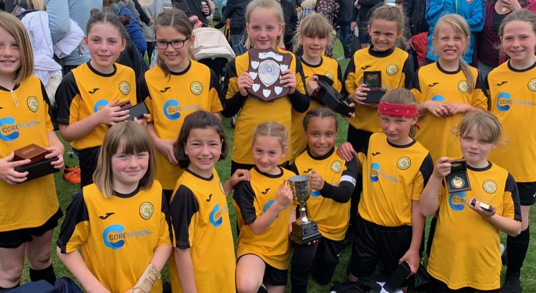 Stanway Rovers U9 Flames League and Cup Double